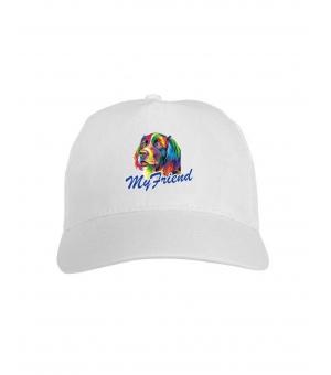 Cappellini bambini bianchi con stampa a colori