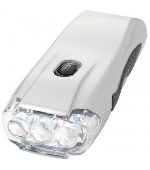 Torcia dinamo a 3 LED argento