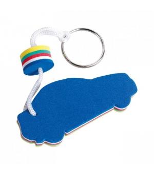 Portachiavi galleggiante sagomato Auto Blu