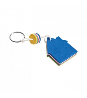 Portachiavi galleggiante sagomato Casa Blu