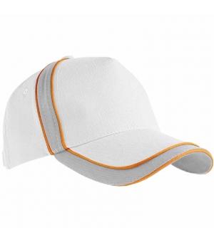 Cappellino in cotone leggero con inserto e profilo in contrasto