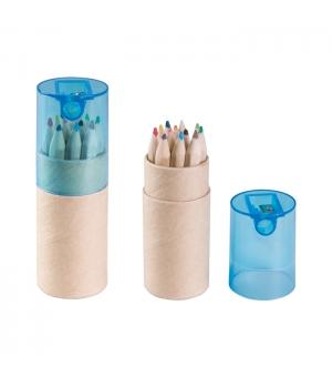 Matite Personalizzate set 12 mini pastelli con astuccio cilindrico