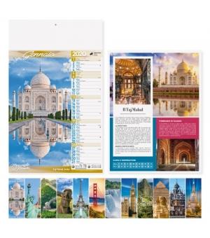 Calendari Città e Meraviglie del Mondo cm 29x47