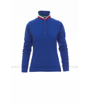 Polo donna maniche lunghe Long-Nation Lady  210 gr - Payper
