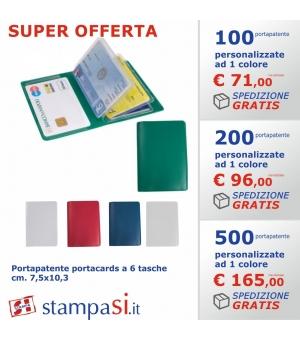 Portapatente portacards a 6 tasche cm 7,5x10,3