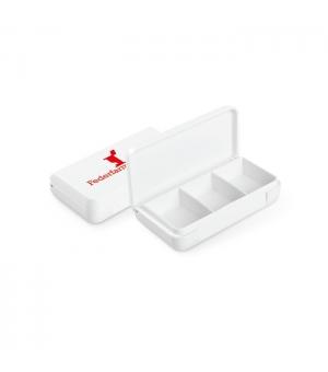 Portapillole personalizzati in plastica cm 6,5x3,5x1,5 - 3 scomparti