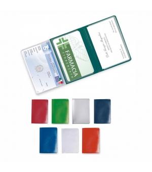 Portatessere portacards personalizzati cm 9,5x6,5 a 3 tasche