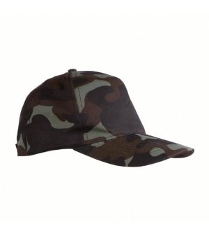Cappellino mimetico in cotone 5 pannelli