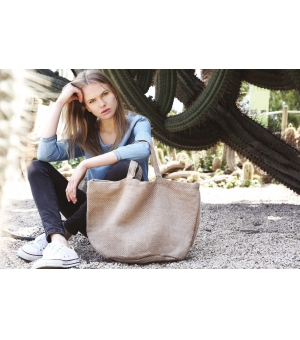 Shopper Ki-Mood in juta filato naturale 36x59x29 - 394 gr