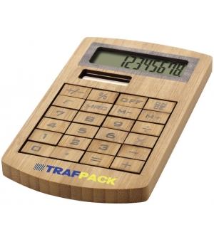 Calcolatrice tascabile ecologica in bambù