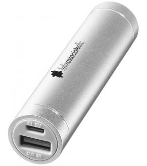 Powerbank cilindrico in alluminio 2200mAh
