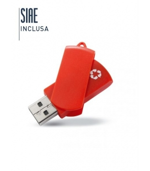 Penna USB Flash Drive in plastica riciclata