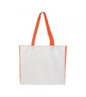 Shopper Borse in poliestere - 40x35x12 cm. manici lunghi e soffietto colorati