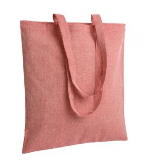Shopper Borse in cotone riciclato effetto melange - 150 gr - 38x42 cm. manici lunghi