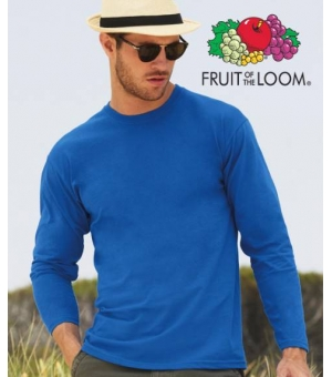 T-shirt uomo manica lunga colorata Fruit of The Loom 100% cotone 165 gr