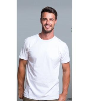 T-shirt uomo slim girocollo bianca RUSSELL 100% cotone 140 gr