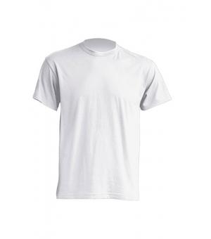 T-shirt adulto bianca JHK 100% cotone 140 gr