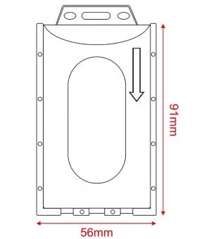 Porta badge in pvc trasparente cm.5,6x9,1