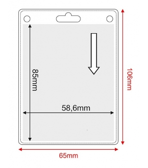 Porta badge in pvc trasparente cm.5,86x8,5