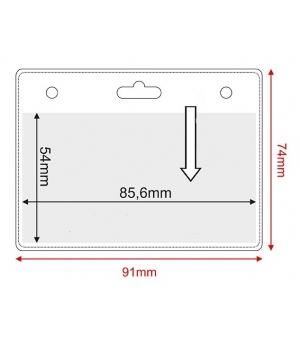 Porta badge in pvc trasparente cm.8,56x5,4