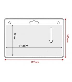 Porta badge in pvc trasparente cm.11x8