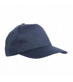 Cappellino in RPET, 5 pannelli con anellini ricamati