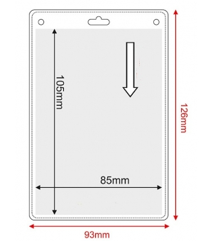 Porta badge in pvc trasparente cm.8,5x10,5