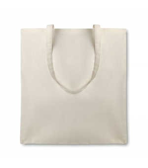 Shopper borse in cotone organico ecologico 105 gr - Manici Lunghi - 38x42 cm