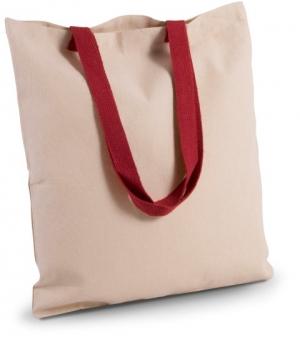 Shopper piatto Ki-Mood in tela con manici a contrasto - 38x42 - 220 gr