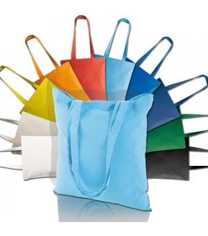 Shopper Borse in cotone manici lunghi - 130 gr - 38x42 cm