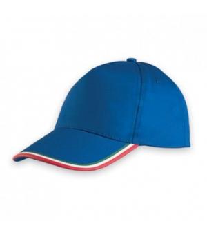 Cappellino 5 pannelli Tricolore