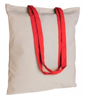 Shopper Borse in cotone manici lunghi colorati - 130 gr. - 38x42 cm - Ischia