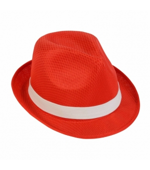 Cappello in poliestere con fascia elastica 2,5 cm
