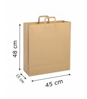 Buste di carta riciclata avana - 120 gr - 45x15x48 cm -  maniglia piatta