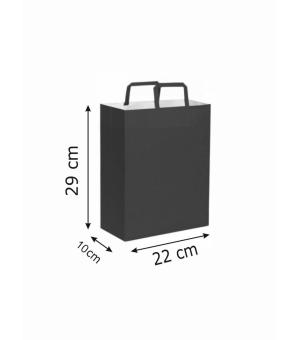 Buste di carta kraft bianca colorata - 90 gr - 22x10x29 cm -  maniglia piatta