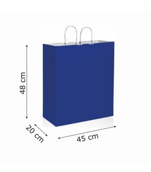 Buste di carta kraft bianca colorata - 110 gr - 45x20x48 cm -  maniglia ritorta