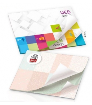 Post-it Bic personalizzati mm. 101x75 - 50 Fogli Alternating Sheet Imprint