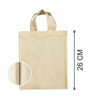 Shopper Borse  Piccole in cotone Naturale 140 gr - Manici corti - 22x26 cm