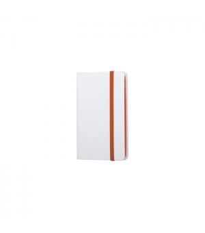 Notes Tascabile cm 9x14 copertina Bianca con segnapagine ed elastico in tinta - 160 pagine