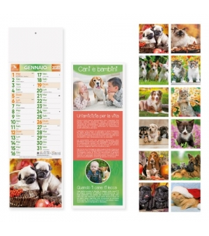 Calendari Cani e Gatti silhouette cm 14,3x47,5