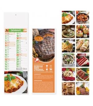 Calendari Gastronomia silhouette cm 14,3x47,5
