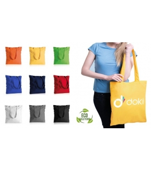 Shopper Borse in Cotone colorato 140 gr - Manici lunghi - 38x42 cm