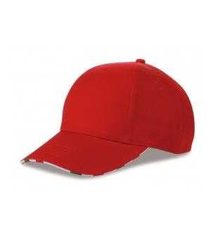 Cappellino 6 pannelli con bandiera italiana