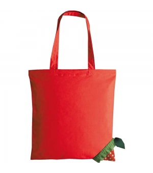 Borsa shopper richiudibile forma fragola