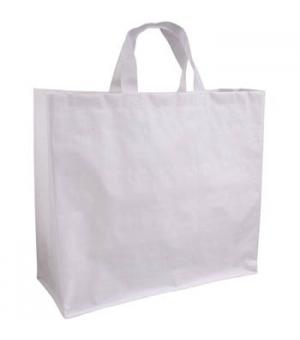 Shopper in Polipropilene laminato con manici corti e tessuto opaco   - 120 gr - 45x40x18 cm