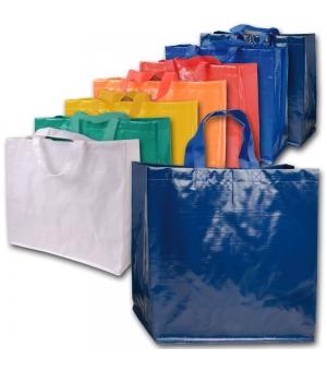 Shopper in Polipropilene laminato con manici corti   - 120 gr - 45x40x18 cm