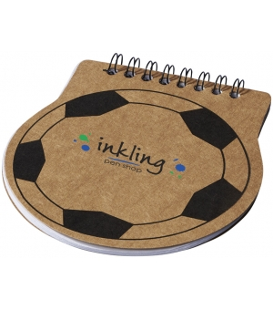 Block notes football con spirale e fogli bianchi