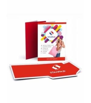 Cartelline portadocumenti con lembi formato A4 stampa fronte e retro con verniciatura lucida fronte e retro