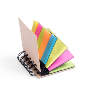 Block notes ecologico cm 8,3x7,6x2,2 in cartone riciclato con post it