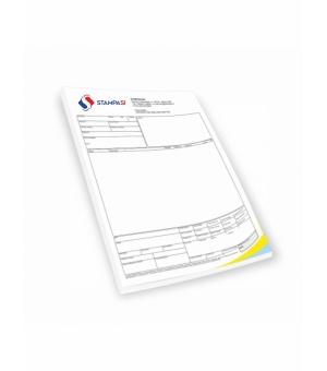 Blocchi in carta chimica formato A4 - 3 copie - stampa 4 colori - 50 fascicoli